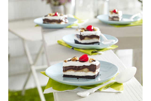 Smart-Choice Chocolate-Banana Split Dessert Image 1