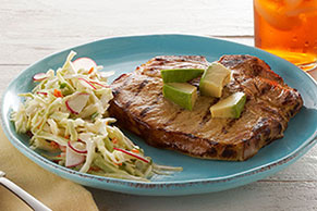 Grilled Pork Chops Yucatan-Style