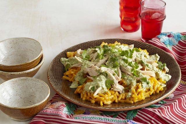 Creamy Poblano Macaroni & Chicken Image 1
