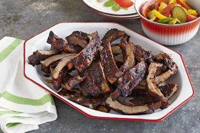 Costillitas BBQ a los cuatro chiles