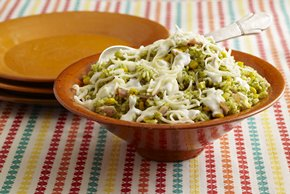 Green Rice with Creamy Cheese Sauce