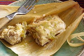 Tamales verdes de pollo