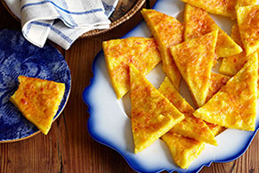 Cheddar-Polenta Triangles