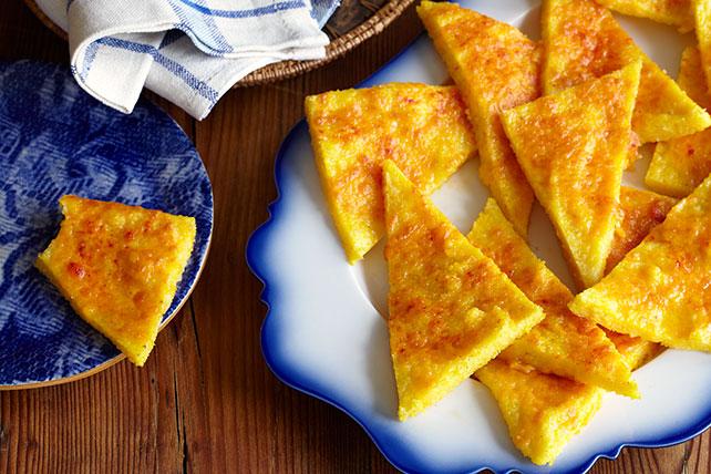 Triángulos de polenta y queso cheddar Image 1