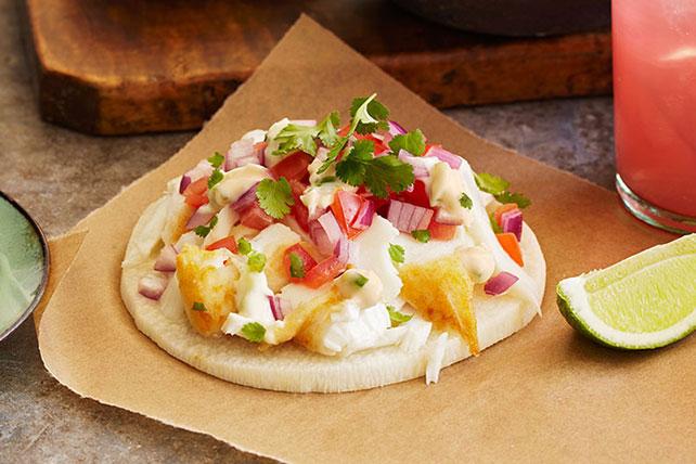 Crujientes tostadas de pescado y jícama Image 1