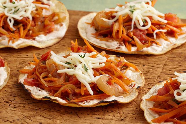 Tostadas de tinga con zanahorias Image 1