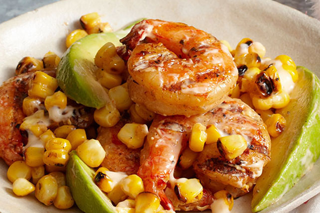 Grilled Shrimp & Roasted Corn Salad Image 1