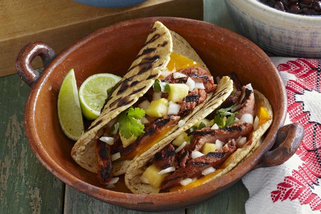 Grilled Cheddar Tacos al Pastor Image 1
