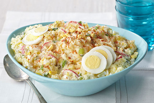 Country-Style Smashed Potato Salad