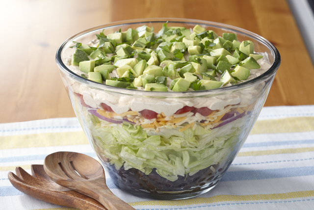 Layered Tex-Mex Taco Salad Image 1