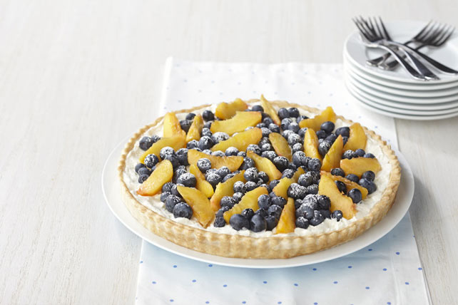 Blueberry & Peach Cream Tart Image 1