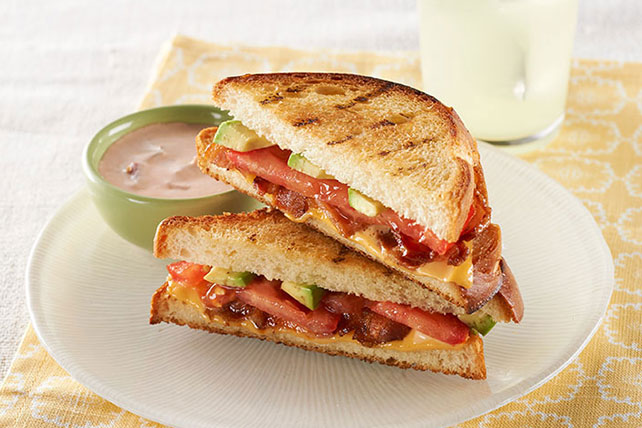 Avocado-Bacon Grilled Cheese