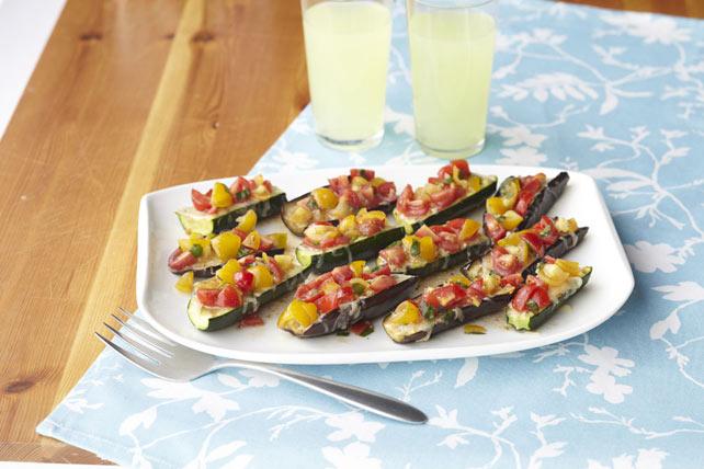 Zucchini & Eggplant Bruschetta Boats Image 1