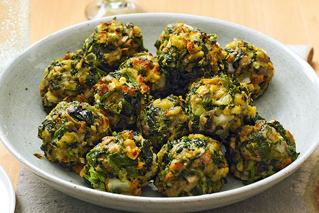 Stove Top Spinach Balls Recipe Kraft Canada
