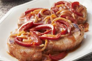 Côtelettes de porc aigres-douces aux poivrons