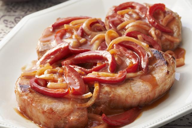 Côtelettes de porc aigres-douces aux poivrons Image 1