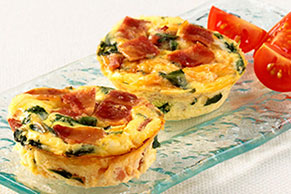Mini Turkey Bacon Quiches