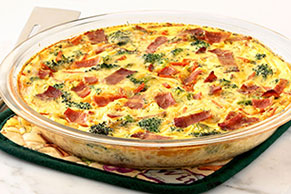 Very Veggie Crustless Quiche