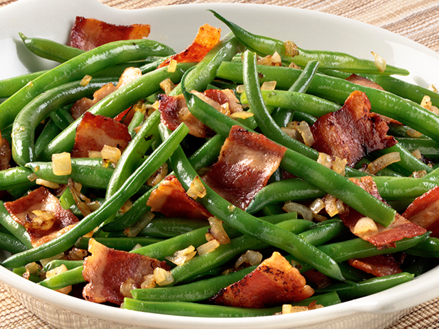 Green Bean, Bacon and Shallot Sauté