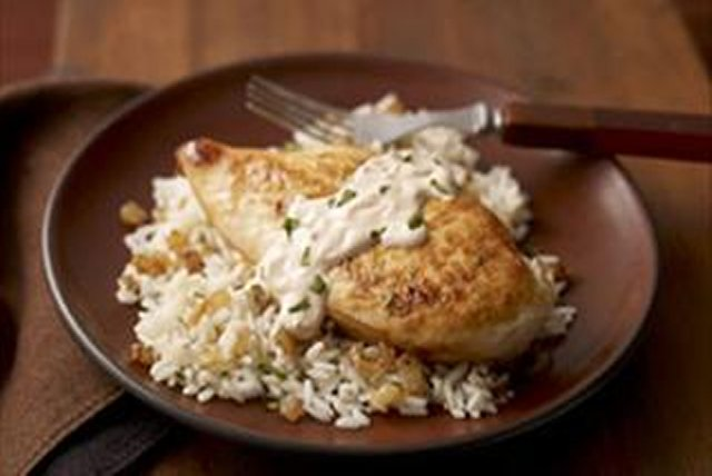 Chicken with Chipotle Sauce over Rice Image 1