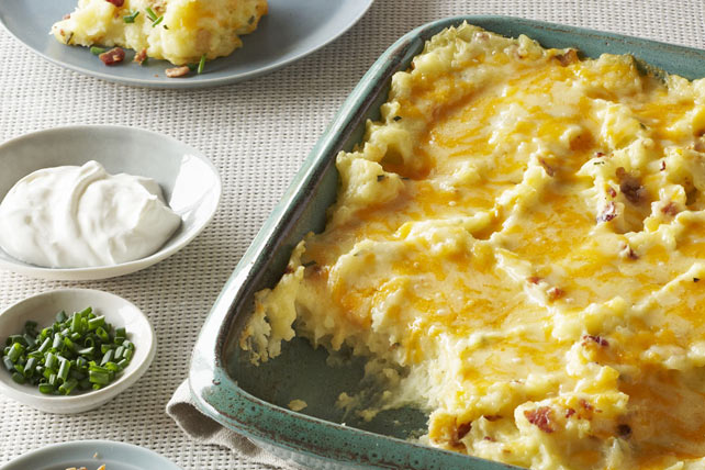 Make-Ahead All-Dressed Mashed Potatoes