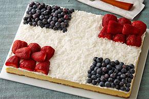 Cheesecake saludo a la bandera