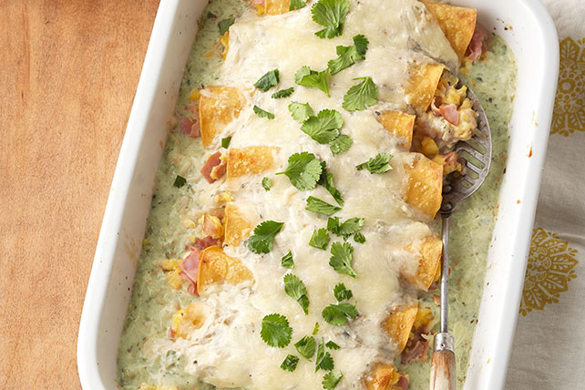 Make-Ahead Ham & Egg Enchiladas