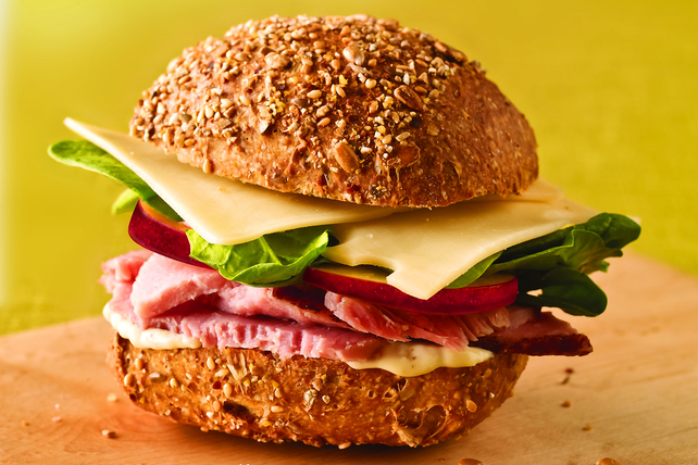 Ham, Apple and Swiss Sandwich