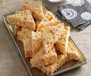 Candy Corn-Marshmallow Crispy Treats