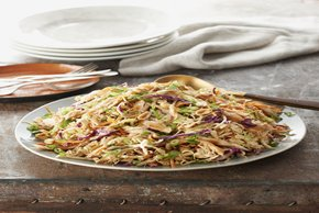 Asian Chicken, Cabbage and Noodles Salad