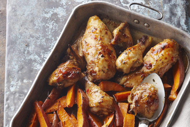 One-Pan Baked Chicken & Sweet Potatoes Image 1