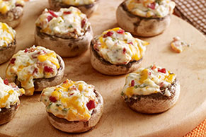 Cheese 'n Bacon Stuffed Mushroom Recipe