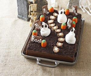 Spooky Cemetery Cake
