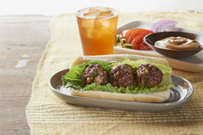 Cheeseburger Meatball Subs
