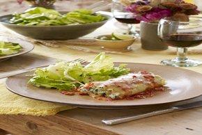 Spinach-Chorizo Lasagna Roll-Ups