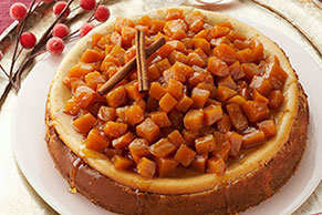 Candied Pumpkin-Topped Cheesecake