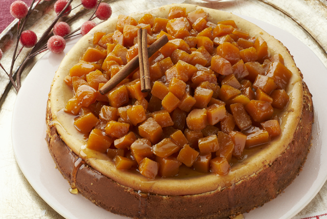 Candied Pumpkin-Topped Cheesecake Image 1
