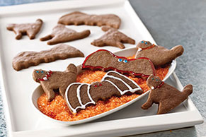 Bats & Cats Chocolate Halloween Cookies