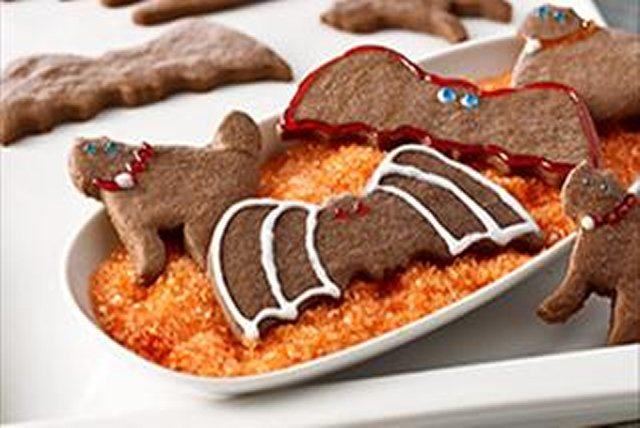 Bats & Cats Chocolate Halloween Cookies Image 1