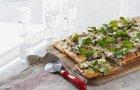 Caramelized Onion & Arugula Pizza