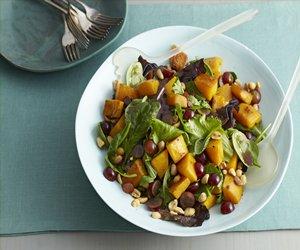 Roasted Squash & Mixed Greens Salad