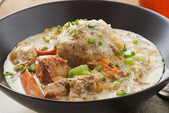 Slow-Cooked Pork Stew with Dumplings