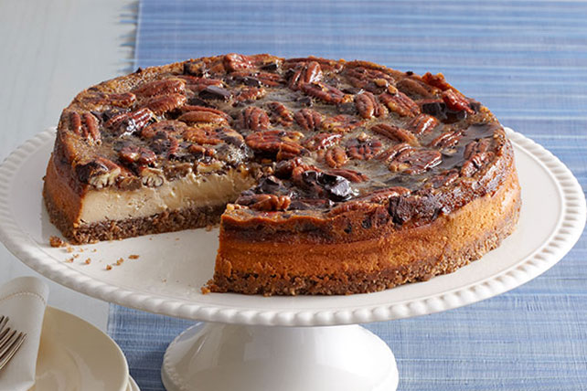 Chocolate-Pecan Pie Cheesecake Image 1