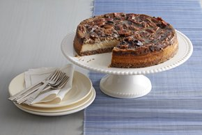Cheesecake estilo pay de chocolate y nueces