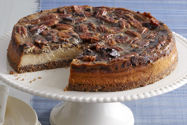 Cheesecake estilo pay de chocolate y nueces Image 1