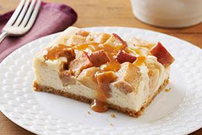 Cheesecake de caramelo y manzana