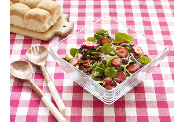 Strawberry-Mint Salad with Masala Candied Almonds Image 1