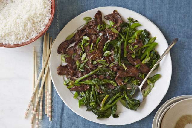 Quick Stir-Fried Beef & Chinese Broccoli Image 1