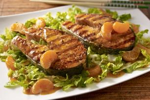 Saumon grillé au sésame et aux agrumes