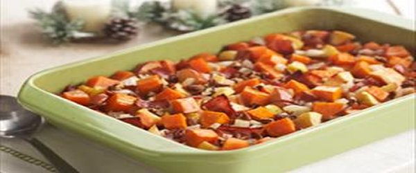 Apple-Bacon Sweet Potatoes